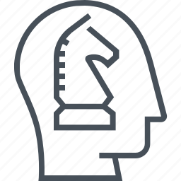chess, horse, intelligence, knowledge, person, plan, strategy icon