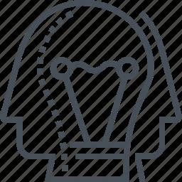 head, idea, lamp, team, team work, together, work icon