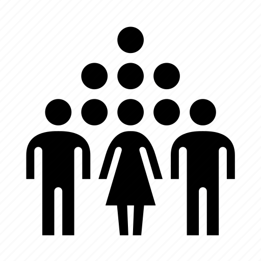 human, humans, people, persons, pyramid, team, users icon