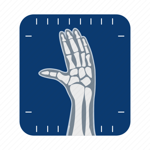 anatomy, bone, hand, human, medicine, organ, x-ray icon