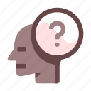 chracteristic, curious, mindset, personality, question, skill icon