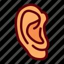 ear, education, human, listen, organ icon