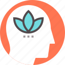 lotus, mental, mindfulness, relaxation, relief, spiritual, zen icon