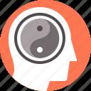 balance, inner, mental, philosophy, religion, yang, yin icon