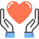 care, charity, help, kind, love, social, support icon
