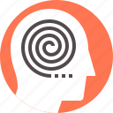 head, philosophy, thinking, self, mental, brain, reflection icon