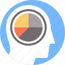 analytical, business, diagram, graph, marketing, mind, thinking icon