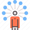 bonds, human, network, personal, realtion, relations icon