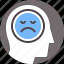 avatar, depression, melancholia, melancholy, sad, sadness, unhappy icon