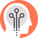 cyber, human, mental, mind, neural, neuroscience, science icon