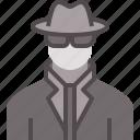 agent, avatar, detective, operative, secret, spy, undercover icon