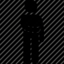 abdomen, hand, human, man, people, pose, standing icon