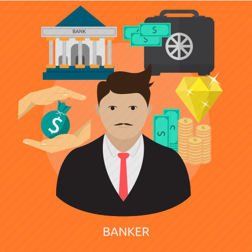 banker, occupation, office, people, person, team, worker icon
