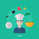 chef, cooking, cuisine, gourmet, ingredients, menu, restaurant icon
