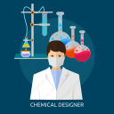chemical, chemical designer, designer, microscope, molecular, pharmacology, pharmacy icon