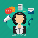 chat, communicator, connection, conversation, message icon