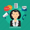 chat, communicator, connection, conversation, message icon