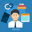 businessman, employee, job, occupation, work, worker icon