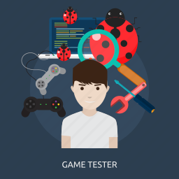 activity, console, game, game tester, joystick, play, tester icon