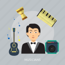 acoustic, band, concert, entertainment, musicians icon