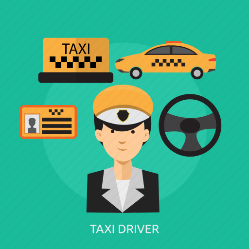 car, driver, taxi, taxi driver, transport, travel, vehicle icon