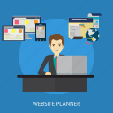 business, concept, e-commerce, management, planner, website, website planner icon