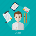 creative, journalist, paper, text, write icon