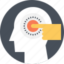 head, human, manipulation, mind, psychology, puppet, thinking icon