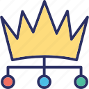 authority, boss, crown, leader icon