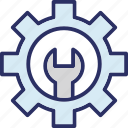 cog, gear, optimization, settings icon