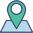 map, map pin, navigation, pin icon