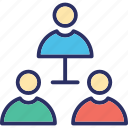company team, hierarchy, hierarchy of team, team icon