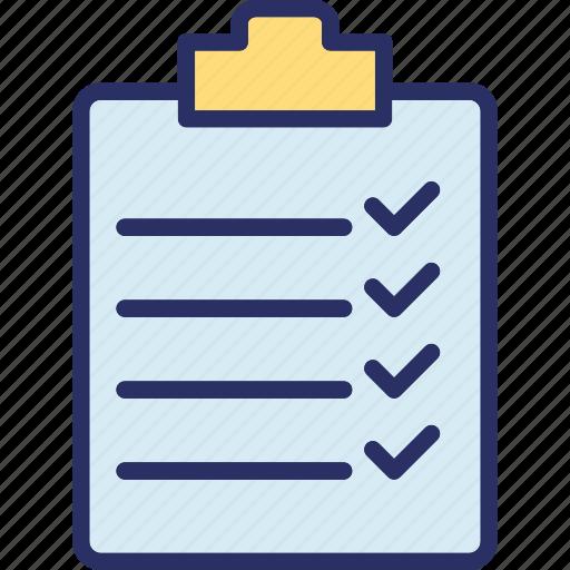 checklist, clipboard, list, memo icon