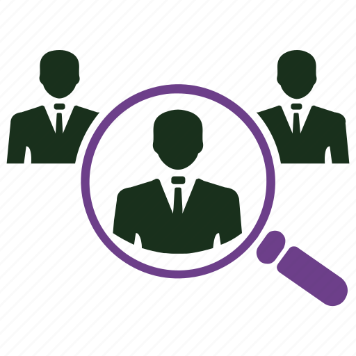 customer searching, find customer, group, job search, magnifier, search icon