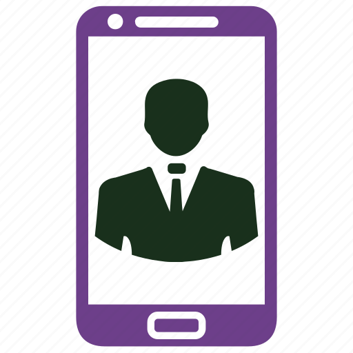 avatar, contact, profile, smartphone, video call, video communication icon