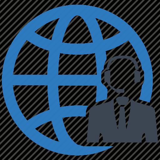 call centre, global communication, global customer servic, globalnetwork icon