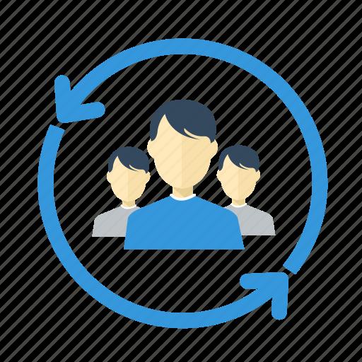 change, circle, communication, diagram, group, human, people icon