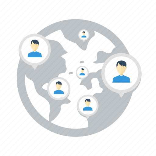 communication, diagram, group, human, location, network, social icon