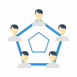 chart, connection, diagram, group, human, people, user icon