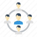 chart, diagram, family, group, people, staff, user icon