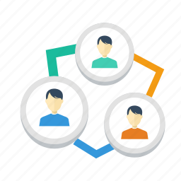 circle, communication, diagram, group, human, organization, user icon
