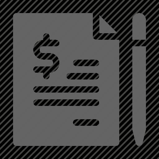 agreement, contract, cv, job icon