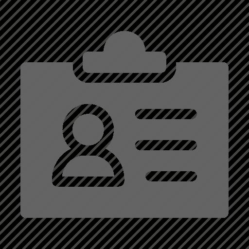 badge, card, employee, identity icon