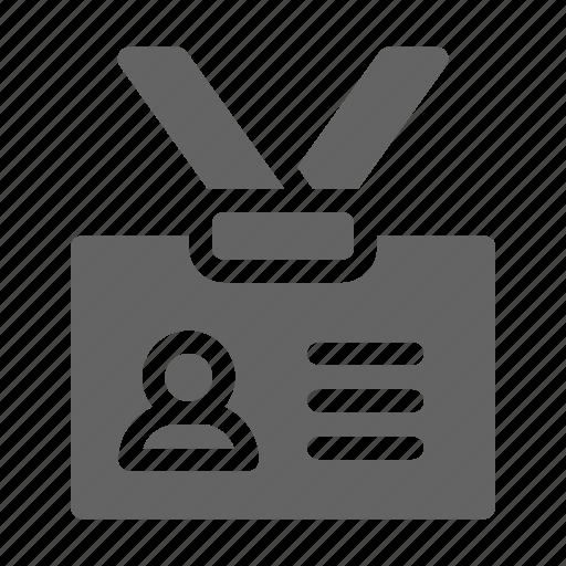 badge, employee, identity, lanyard icon