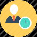 businessman, entrepreneurship, future plan, investment time, time management icon