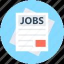 application form, job application, cv, curriculum vitae, resume icon