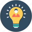 bulb, creativity, idea, innovation, light bulb icon