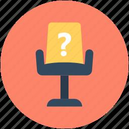 chair, faq, mesh chair, office chair, question icon