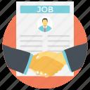 employee, job, business people shaking hand, new hiring, new joinee