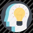 bright idea, bulb mind, creative idea, intelligent, team intelligence icon